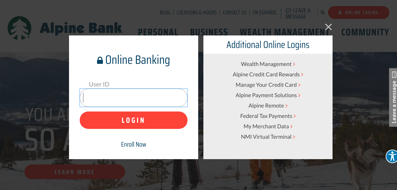 Alpine Bank Denver Login