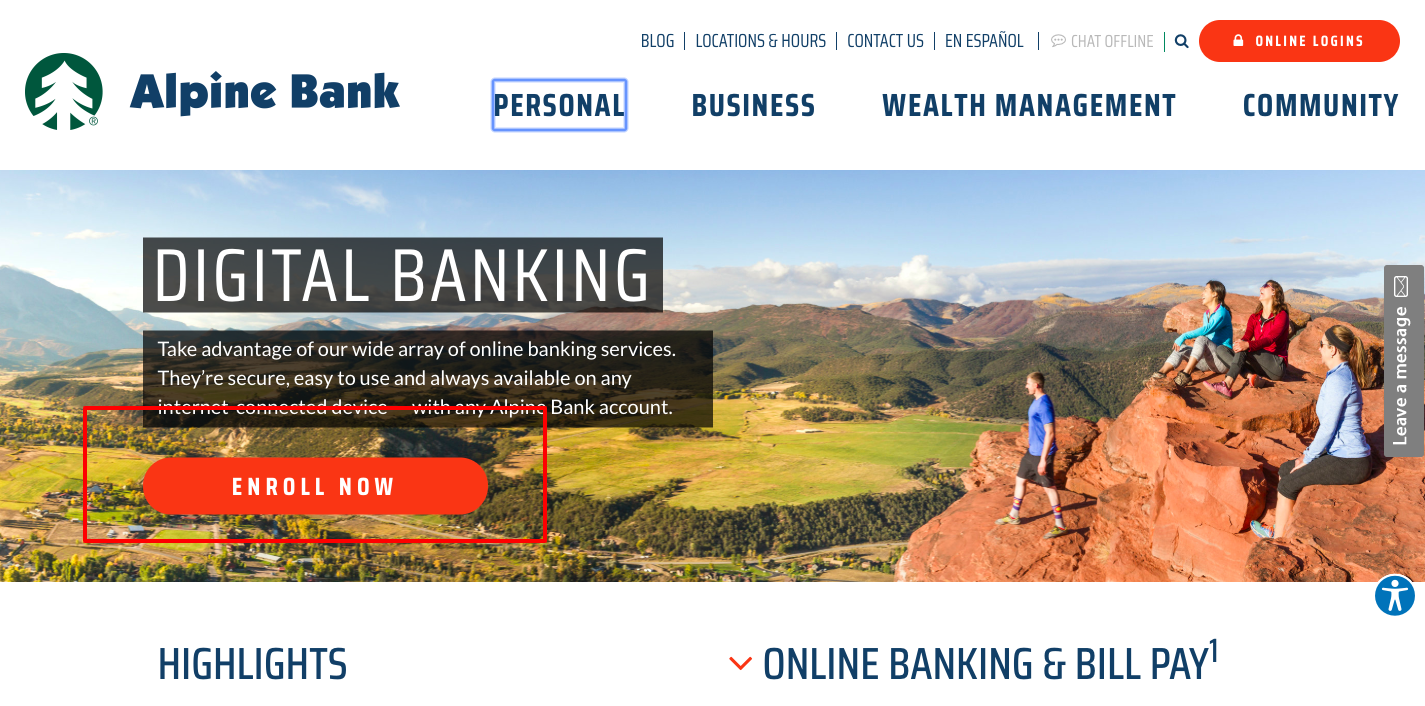Digital Banking Alpine Bank