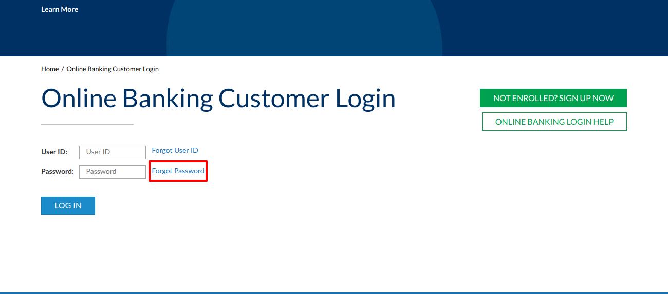 Online Banking Customer Login