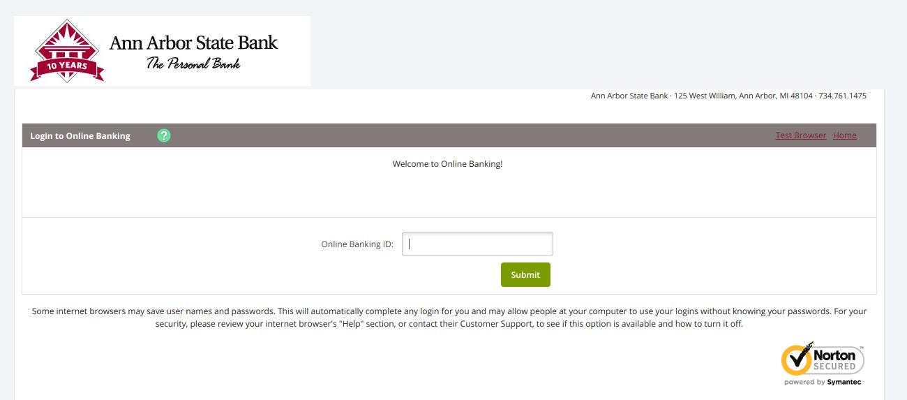 Online Banking Log In