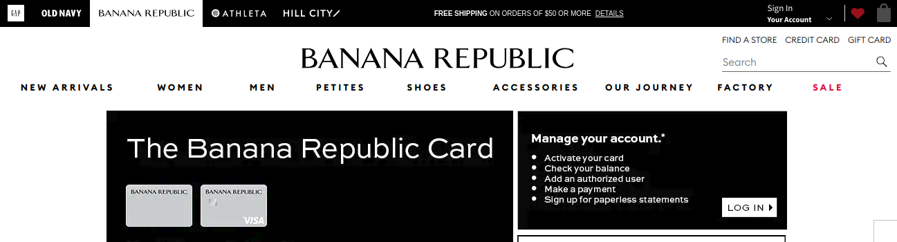 Banana Republic Credit Card Logo