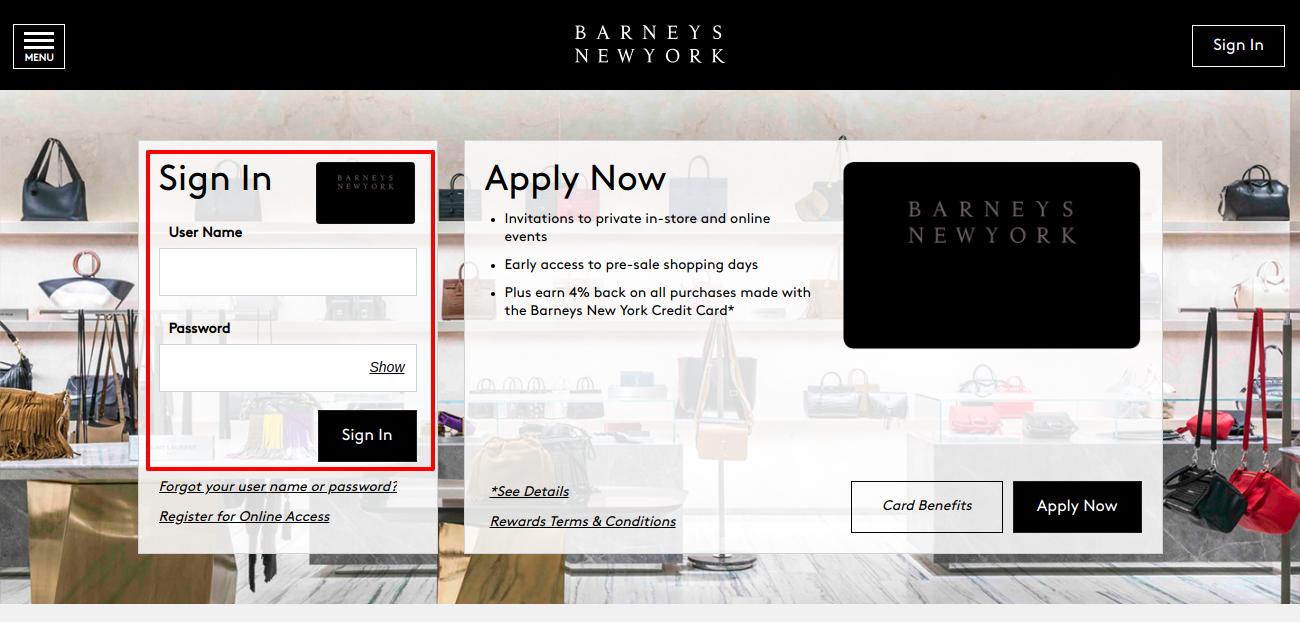 Barneys New York Credit Card