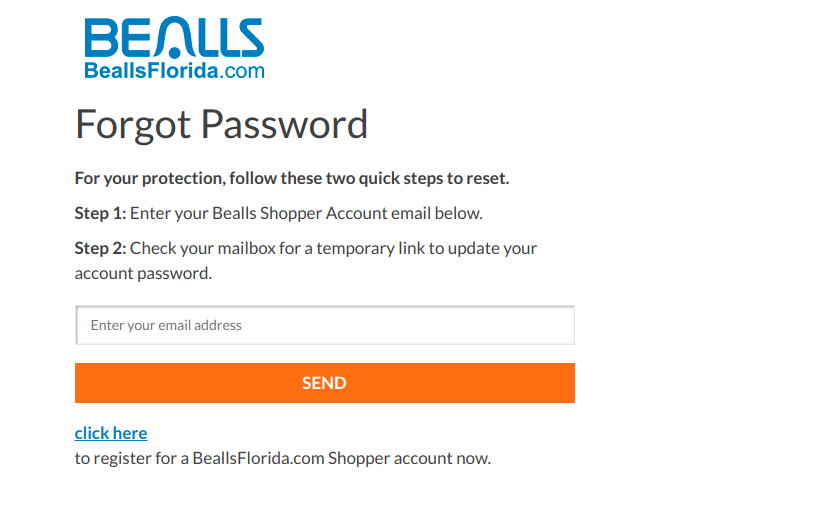 Bealls Florida Forgot Password