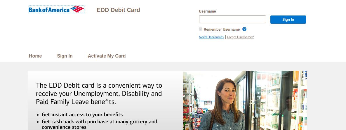 EDD Debit Card Logo