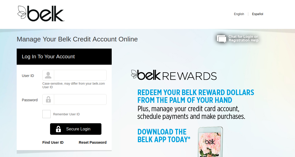 Manage Your Belk Credit Card Account