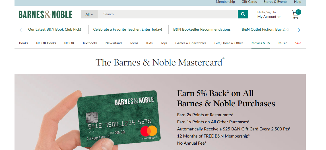 The Barnes Noble Mastercard Logo