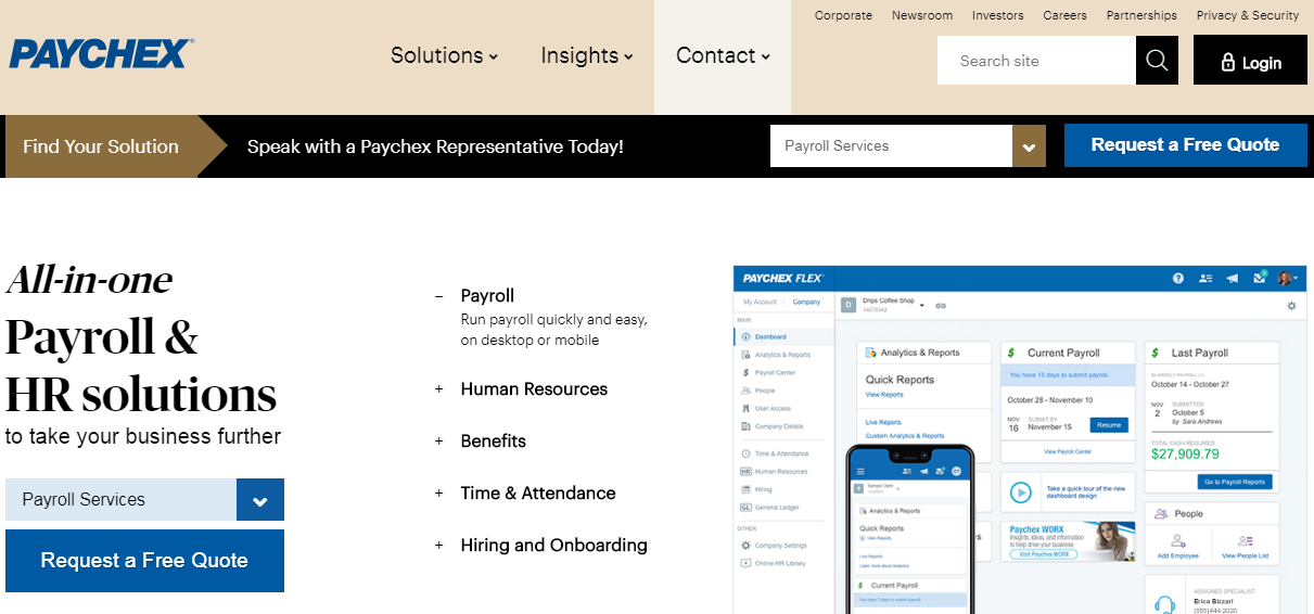 MyPaychex Register