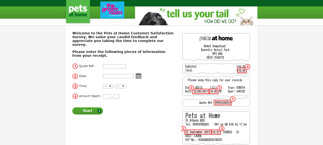 Pets at Home Tell Us Your Tail Welcome