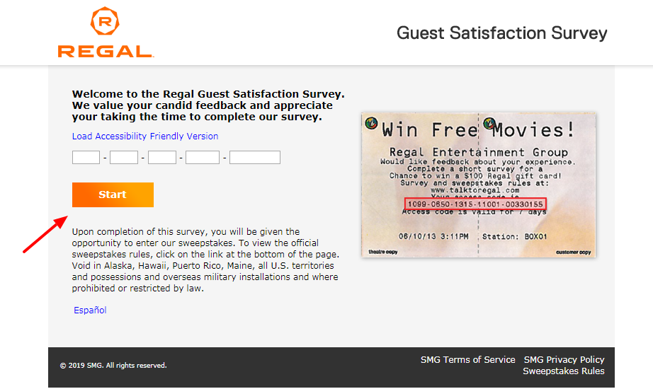Regal Guest Satisfaction Survey Welcome