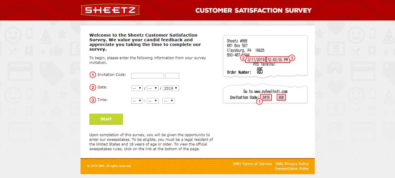 Sheetz Customer Satisfaction Survey Welcome
