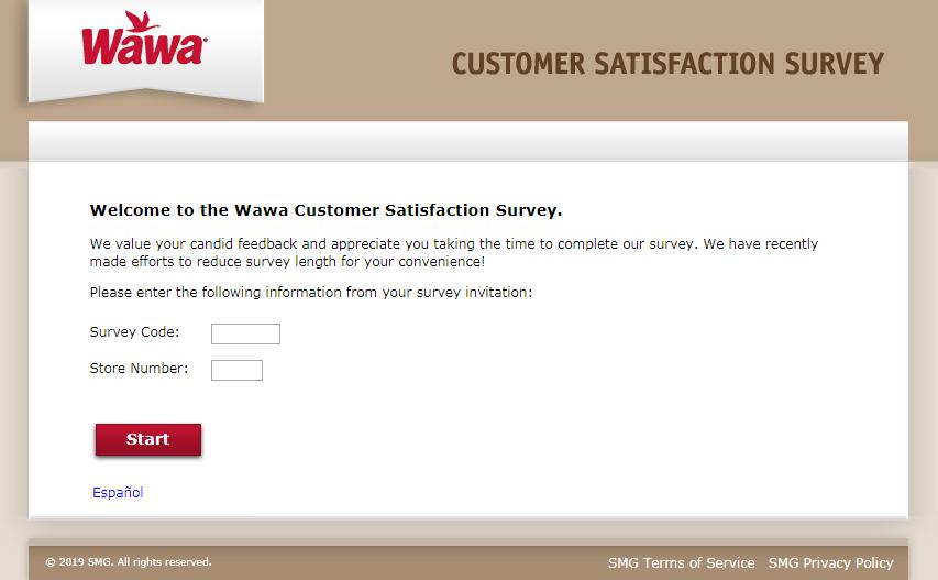Wawa Customer Satisfaction Survey Welcome