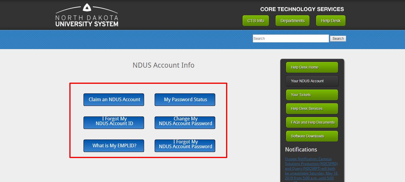 NDUS Account NDUS Helpdesk NDUS CTS