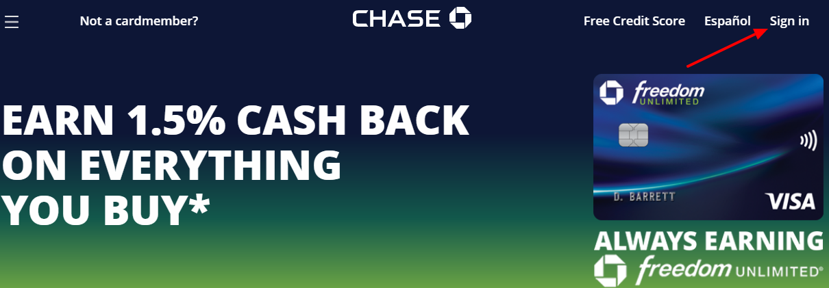 Chase Freedom Unlimited Card Login