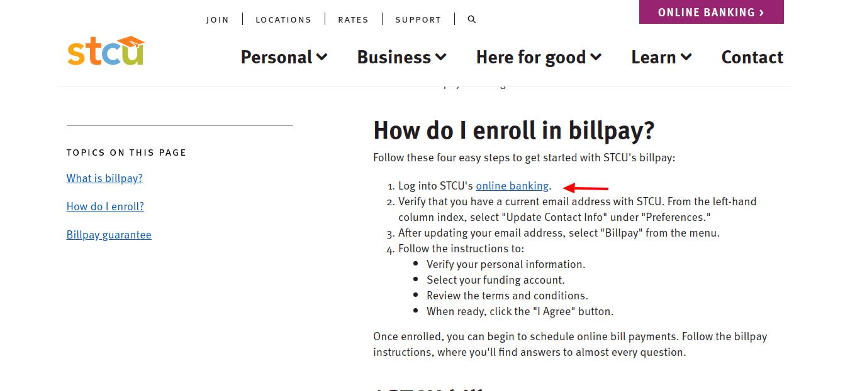 Billpay-support-STCU