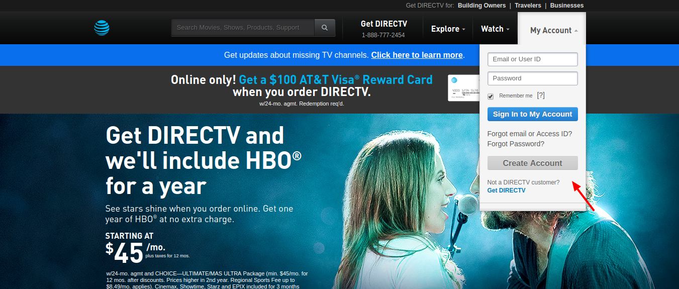 DIRECTV-Official-Create-account