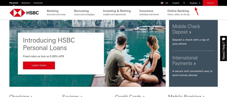 HSBC-Banking-Register