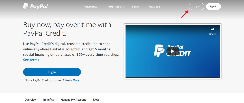 PayPal-Credit-Login