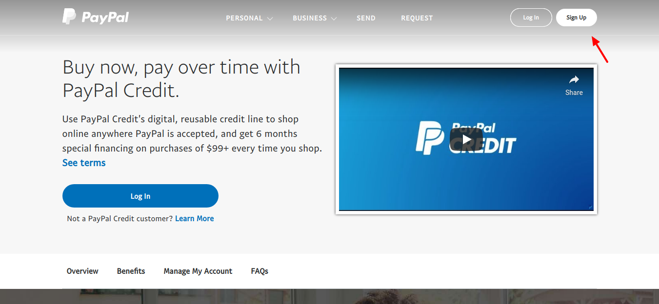 PayPal-Credit-Sign-up