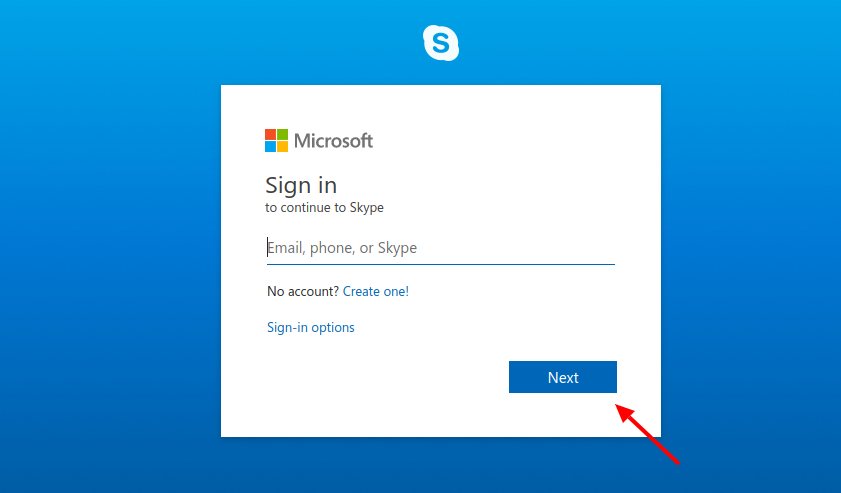 Sign-in-to-Skype