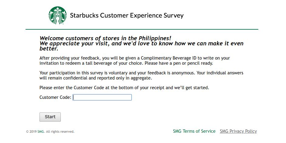 mystarbucksvisit-survey
