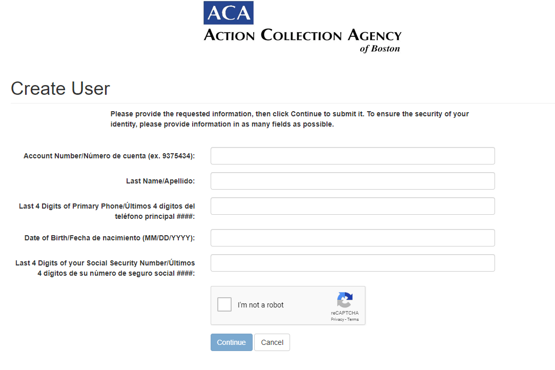 Action Collection Agencies Inc Create Account