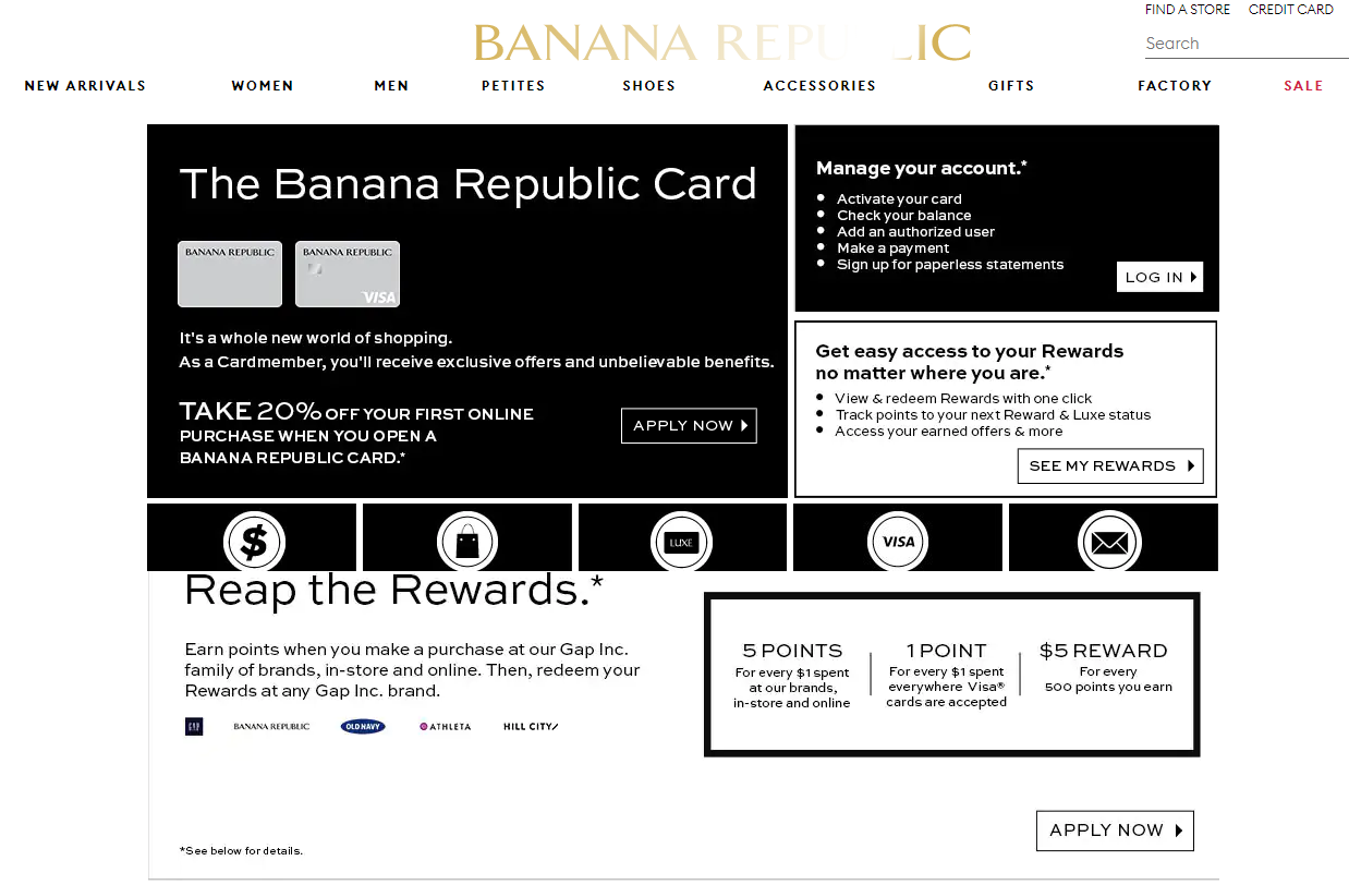 Banana Republic Credit Card Features & Benefits - Banana Republic Credit Card apply