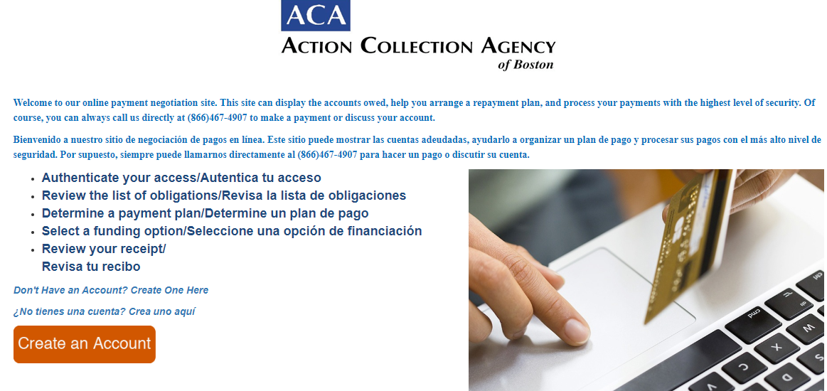 Get To Enter ACA Payments Collection Portal