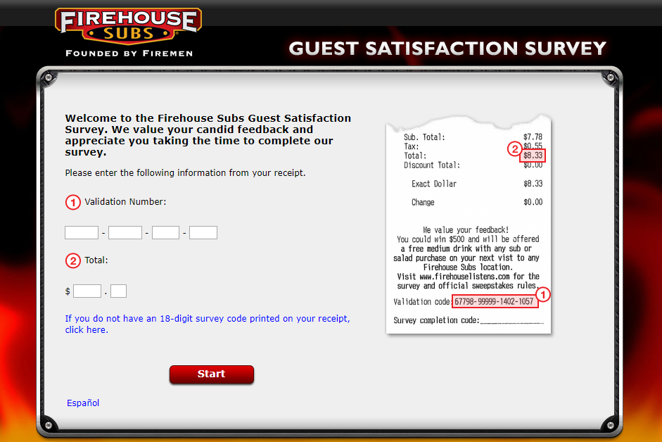 Firehouse Subs Guest Satisfaction Survey