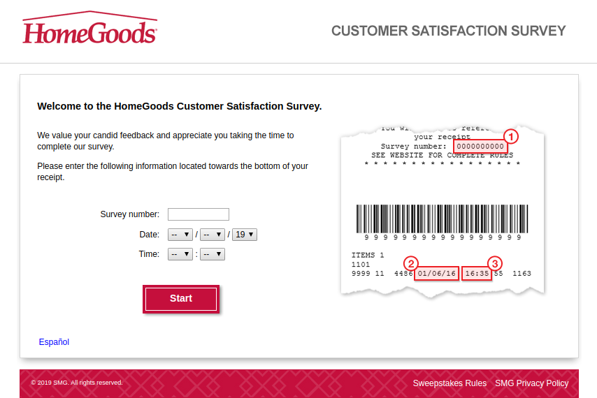 HomeGoods Customer Satisfaction Survey
