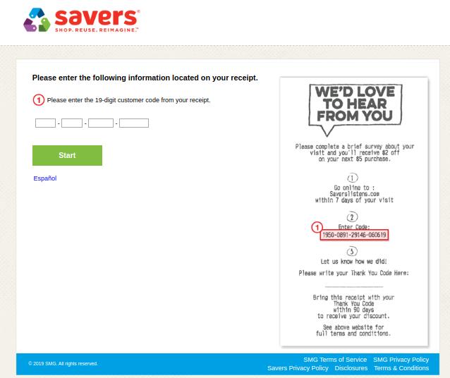 Savers Listens Survey