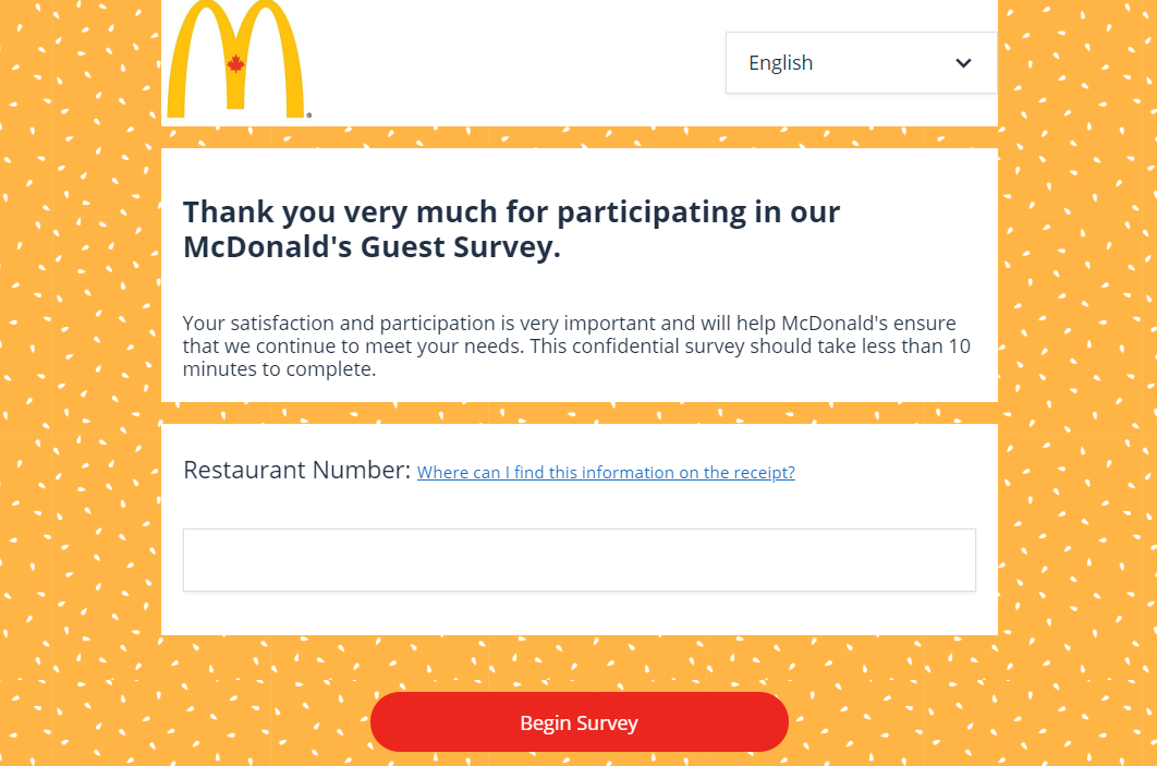 Take Part In The Official McDonalds Survey And Win Free Fries