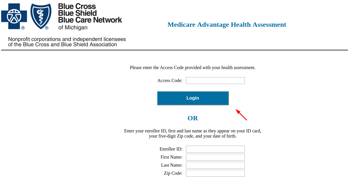 health assessment Login