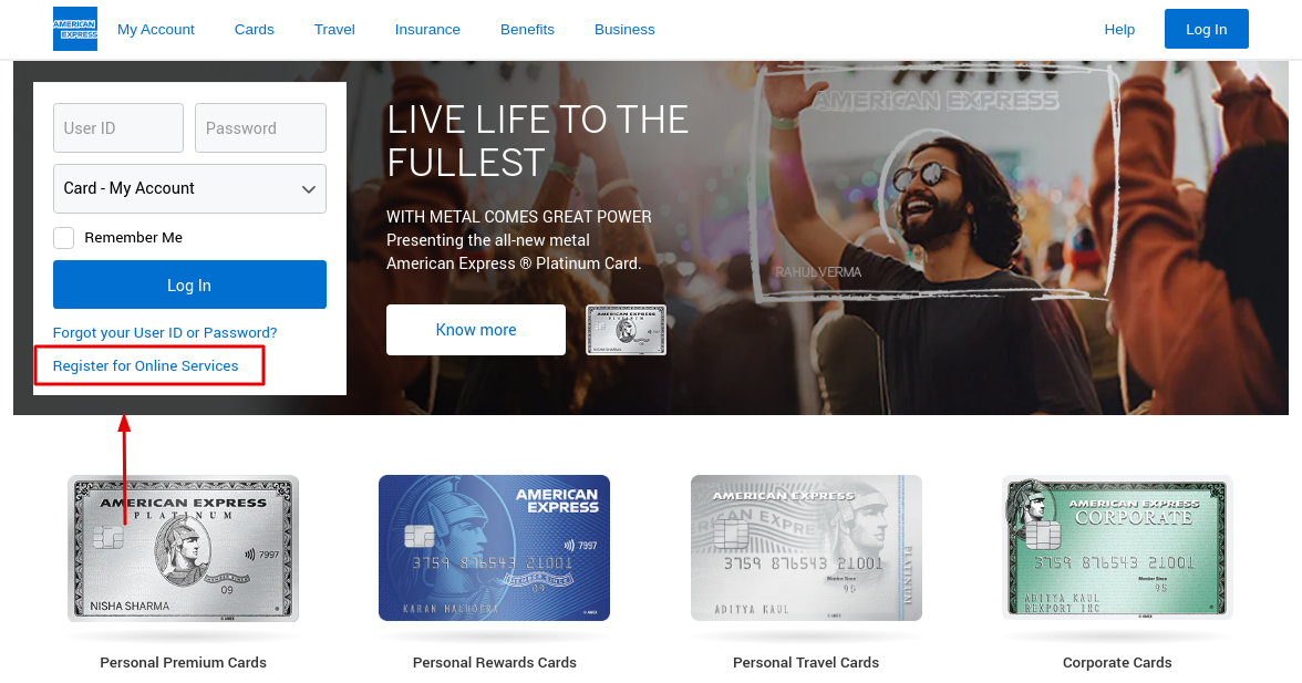 American Express Register