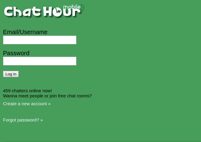 Chat Hour Mobile Login