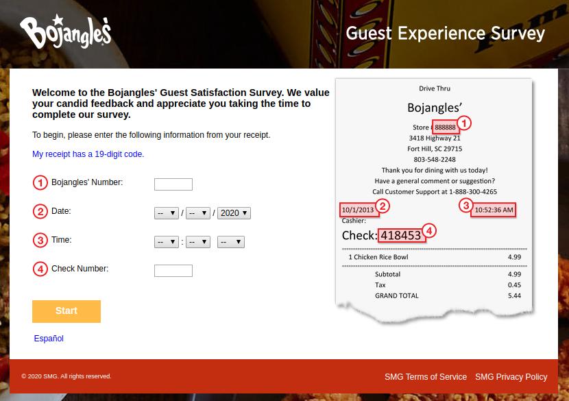 Bojangles Guest Experience Survey