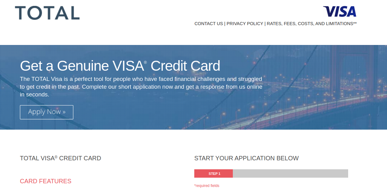 Total Visa Credit Card Apply