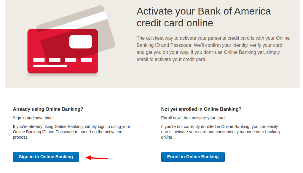 Bank of America Card Login
