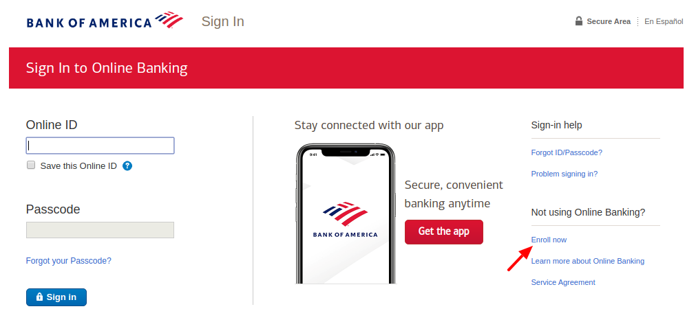 Bank of America Enroll