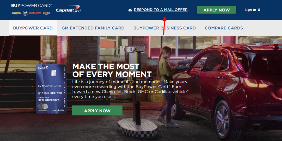 Capital one Buy power card Mail Offer
