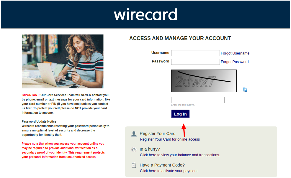wirecard login