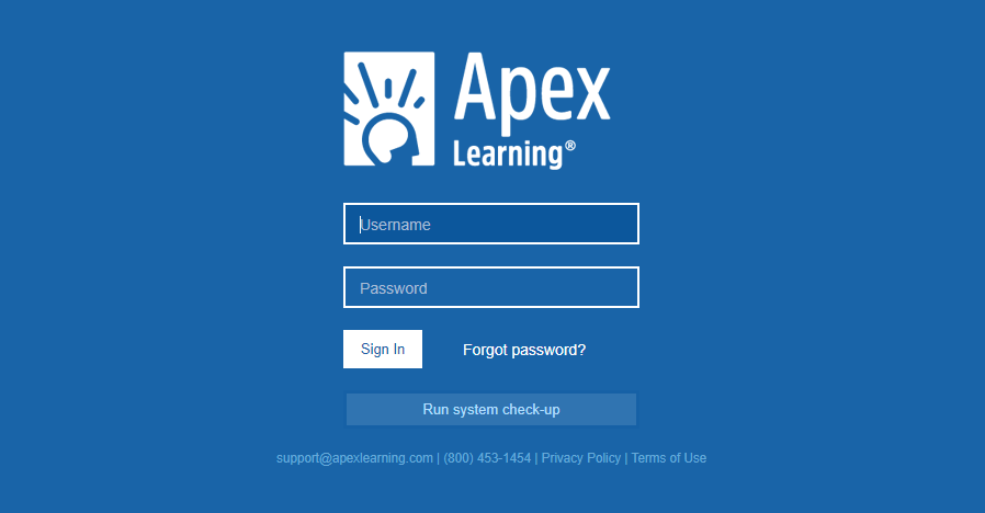 Apex Learning Portal login