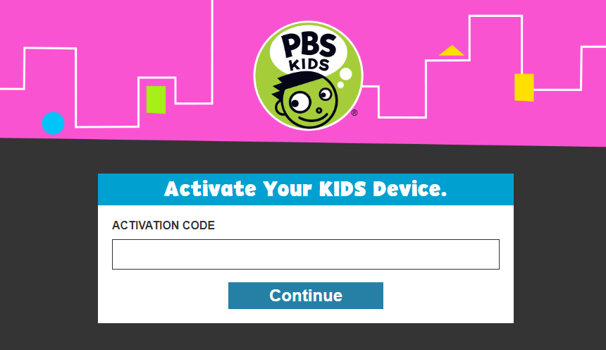 PBS Kids Device Activation