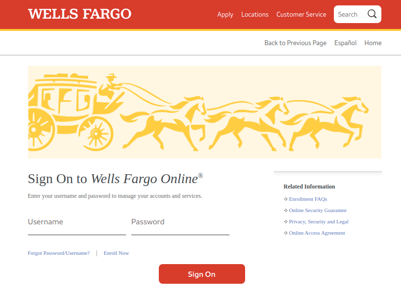Wells Fargo Sign In