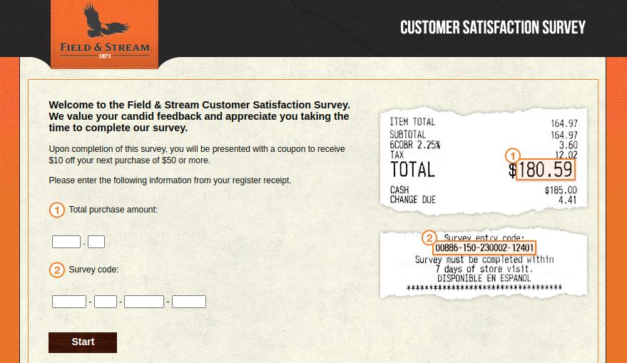Field-Stream Customer Survey