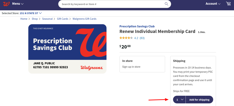 Walgreens renew Membership