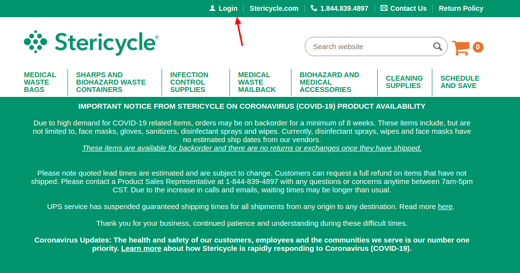 MyStericycle Login