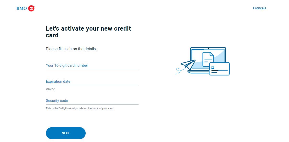 activate bmo debit card